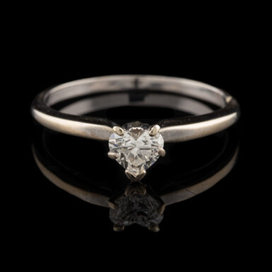 Pre-Owned 18K Heart Diamond Solitaire Ring