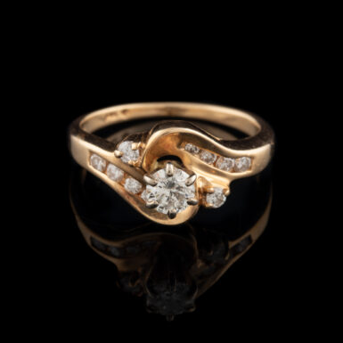 Pre-Owned 14K By-Pass Design Diamond Ring