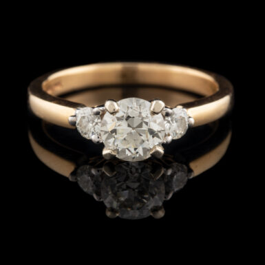Pre-Owned 14K Vintage 1 Carat VVS2 Diamond Ring