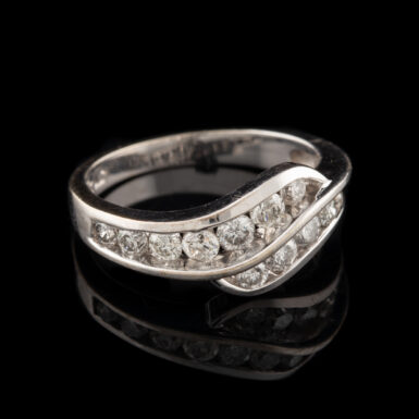 Pre-Owned 14k By-Pass Channel Set Diamond Ring