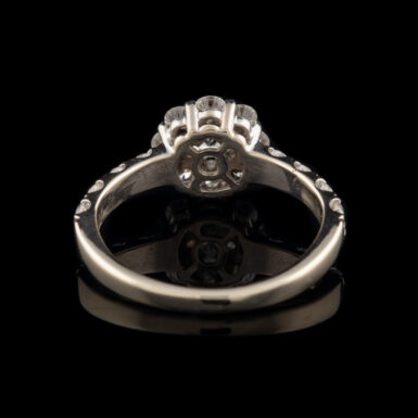Pre-Owned 1.29 Total Carat Weight Signature Leo Diamond 14K Halo Ring