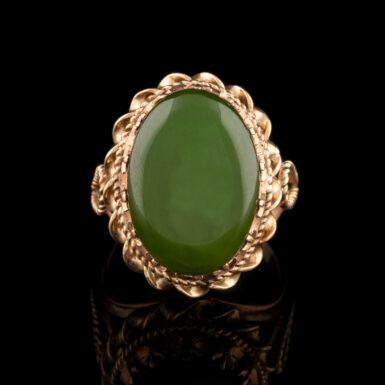Pre-Owned 14K Nephrite (Jade) Ring