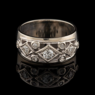 Pre-Owned 14K Wide Diamond Band