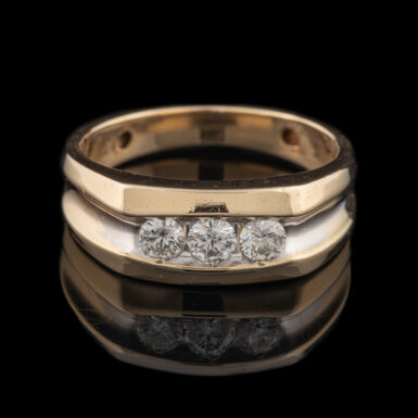 Pre-Owned 14K GTS Half Carat Total Weight 3 - Diamond Ring
